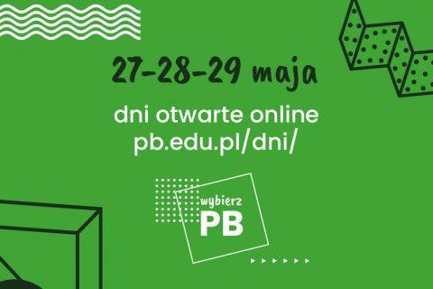 27, 28 i 29 maja dni otwarte online Politechnika Białostocka