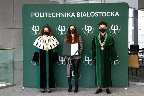 Święto Politechniki Białostockiej 2020. Wręczenie certyfikatów Super STudenta Politechniki Białostockiej