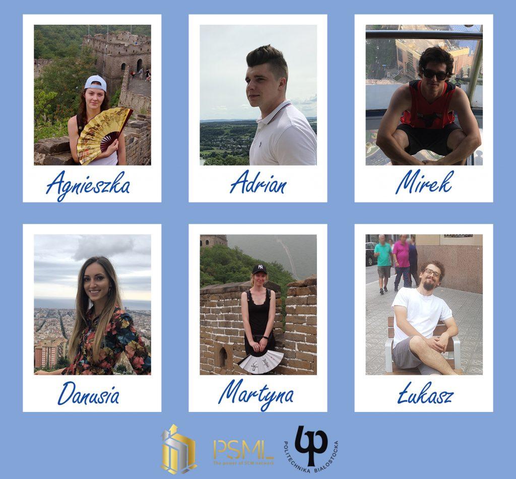 Nagrodzeni w III edycji programu Top Young 100 z Wydziału Inżynierii Zarządzania: Agnieszka, Adrian, Mirek, Danusia, Martyna, Łukasz