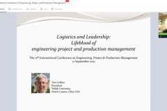 11th International Conference on Engineering, Project, and Production Management. 19-21 September 2021, On-line